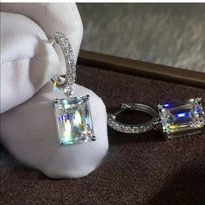 New elegant 925 silver drop earrings for women
